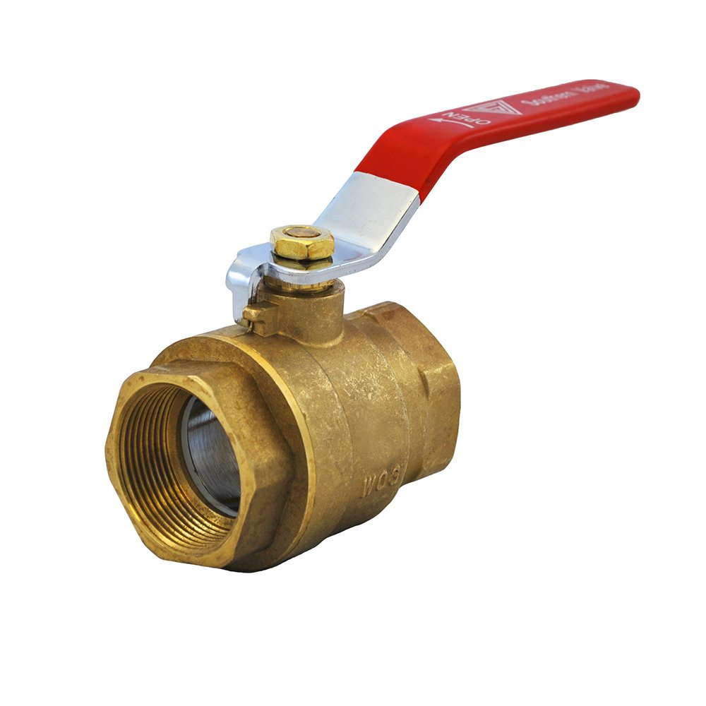 ValveUSA 600-012TFP Brass Full Port Threaded Ball Valve, 1 1/4 - 1.25'' by Valve USA