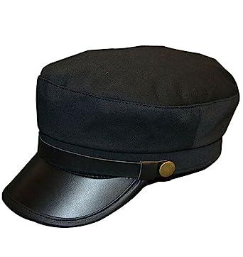 official photos d364a e07d0 ... wholesale vintage pu flat top army baseball cap unisex fisherman sailor  hat military navy hat 56 ...
