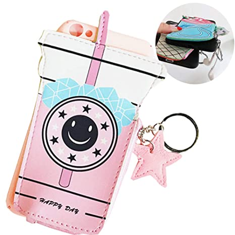 5b230a30072f SGVAHY Wallet Phone Case for iPhone XR, Cute Fun Zipper Wallet Case with  Coin Purse for Girls Women Soft Silicone Shockproof Slim Protective Case  for ...