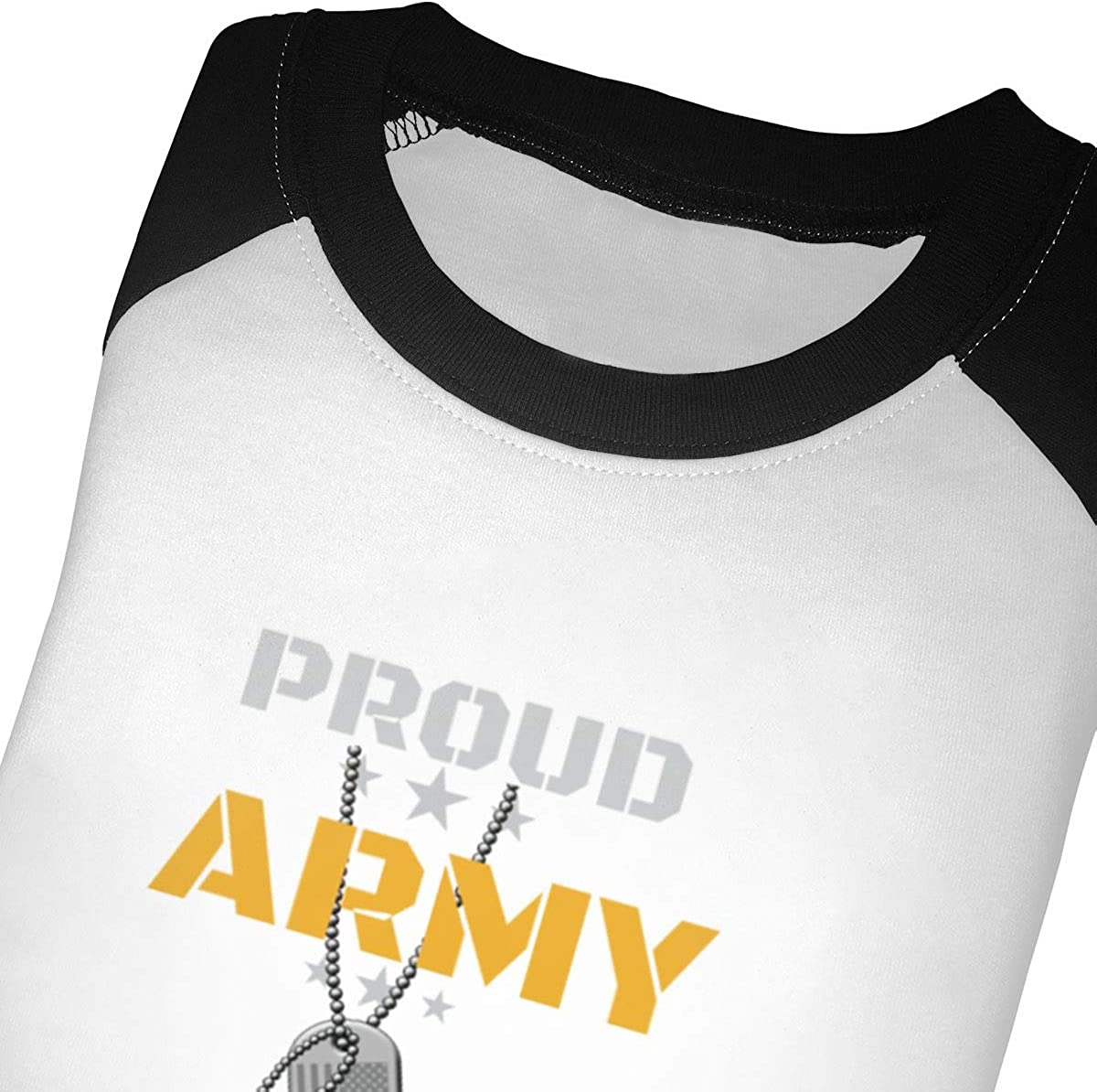 Kocvbng I Proud Army Dad Raglan 3//4 Sleeves Shirt for Girl Boy