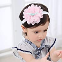 Beautiful Newborn Toddler Headband Chiffon Elastic Baby Headdress Kids Lace Flower Hair Band Girl Hair Styling Accessories - Pink