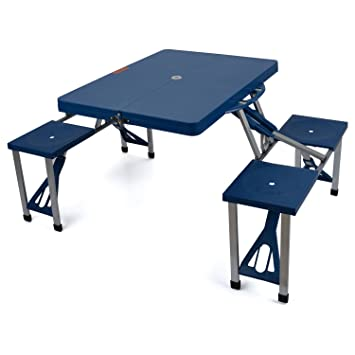 Portable Folding Picnic Table Set 4 Chairs ABS Plastic Outdoor ...