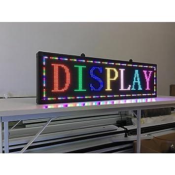 Amazon.com: Nuevo LED de interior cartel publicidad P5 RGB ...