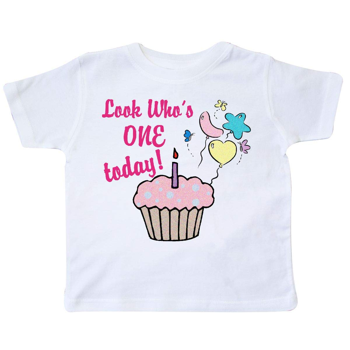 inktastic Butterfly Cupcake 1st Birthday Toddler T-Shirt