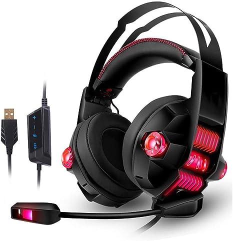 TAOXUE Auriculares Gaming Profesional con Micrófono Diadema ...