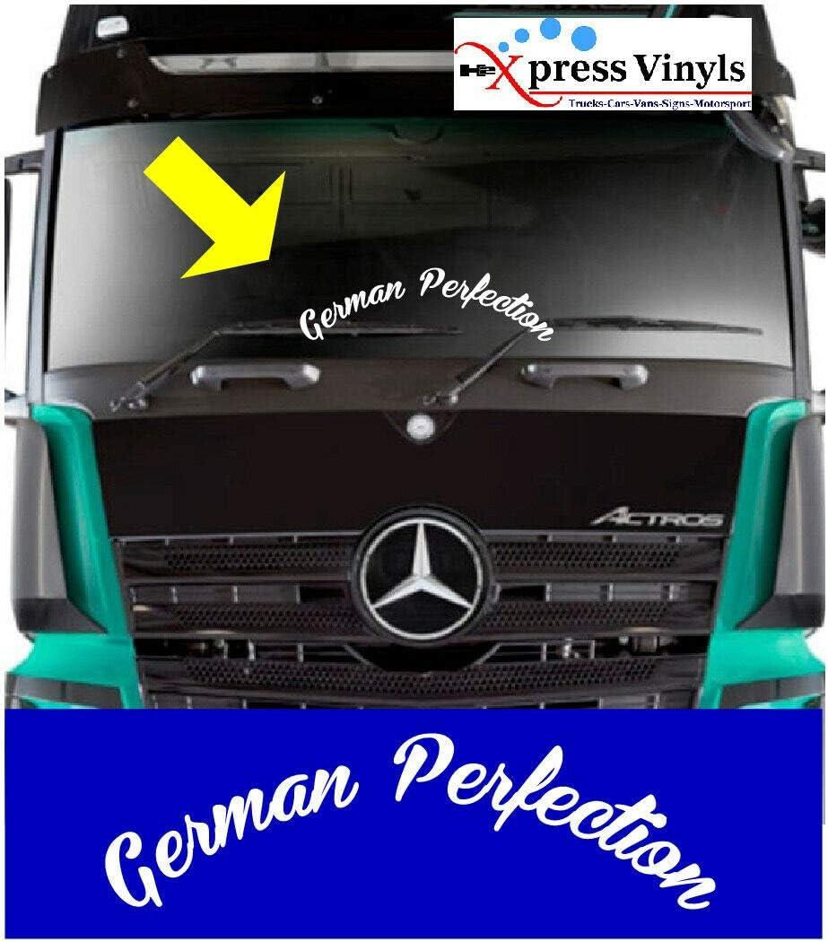 Myrockshirt Schriftzug German Perfection Lkw Truck Windshield Windschutzscheibe Aufkleber Sticker Decal Autoaufkleber Uv Waschanlagenfest Profi Qualität Auto