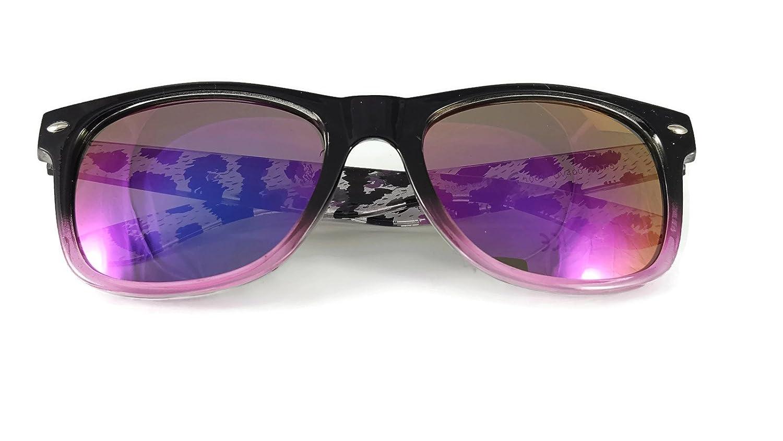 1405b85a0213 New Sunglasses Two tone reflective lenses Vintage Classic Style unisex  frame UV400 (W22)  Amazon.co.uk  Clothing