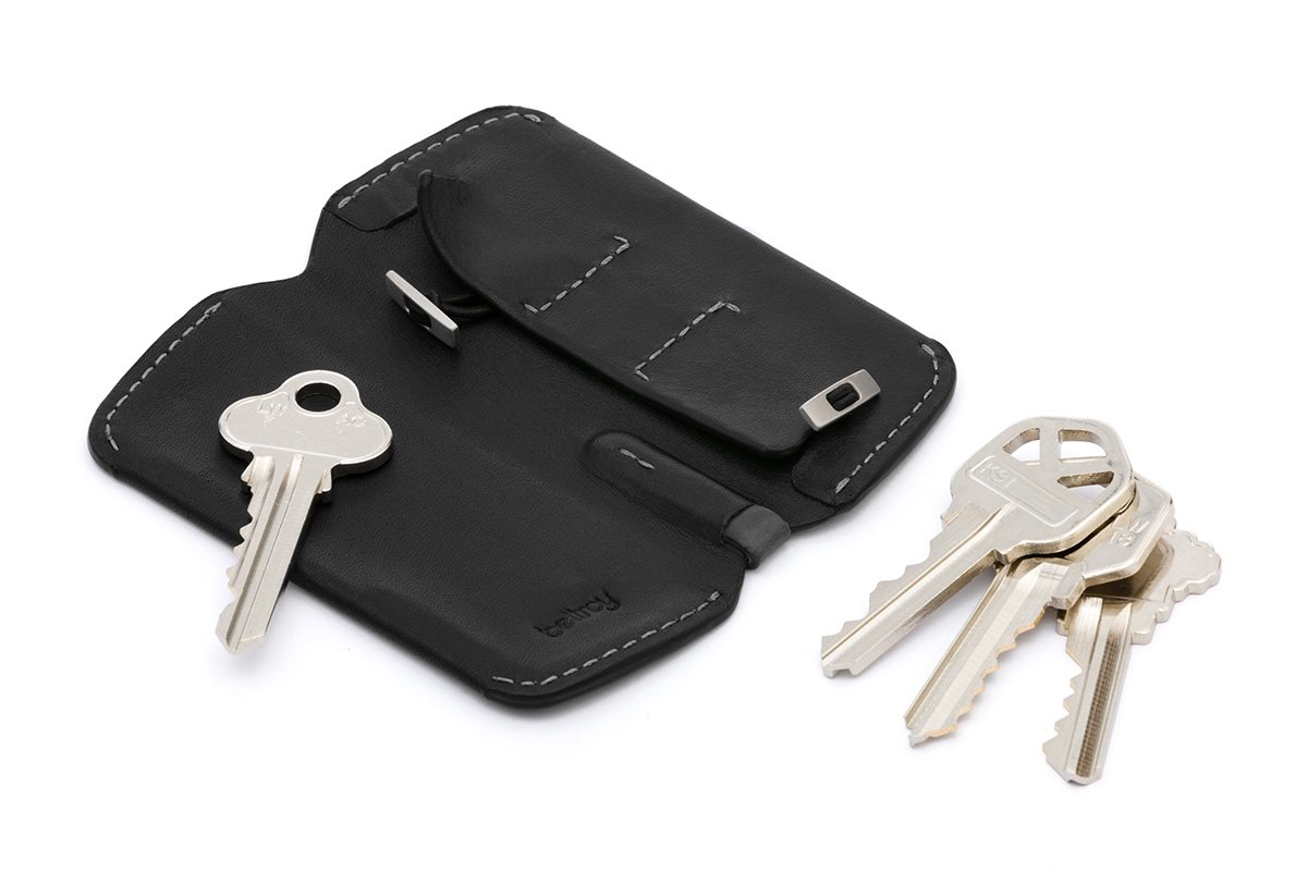 Cartera de Piel Bellroy Key Cover Plus Black