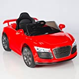 Audi R8 Style Kids 12V Battery Powered Wheels Ride On Car MP3 RC Remote Red