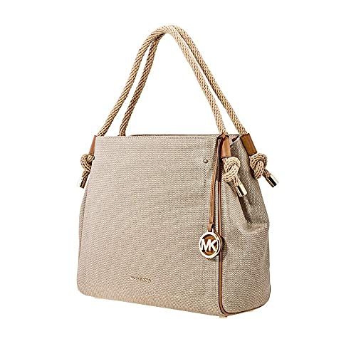 Michael Michael Kors Isla Large Textured Leather Grab Bag, Pale Gold, Pale Gold, One Size