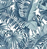 A-Street Prints 2744-24133 Alfresco Navy Palm Leaf Wallpaper Alfresco Palm Leaf Wallpaper