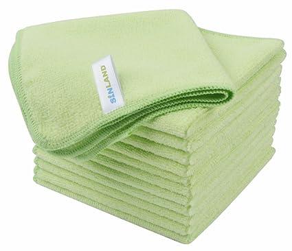 12 toallas microfibra – Color Verde Pastel – Violetta – 2018 – muy bella acabado,