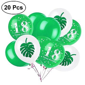 LUOEM Decoraciones de la fiesta de cumpleaños 18 12