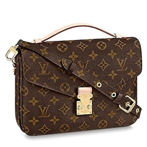 7802e9627 Leather House Womens Handbags All-over Printed Purses Satchel Shoulder Bag  with Zipper Wallet Brown 25X19X9cm: Amazon.ca: Shoes & Handbags