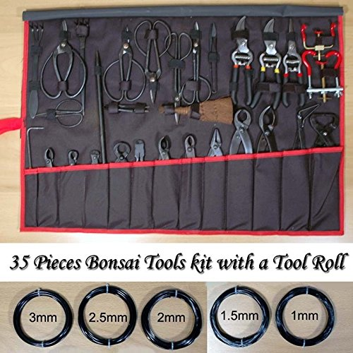 Brand New 35 Pieces Bonsai Tools Kit with a Tool Roll by TimmyHouse