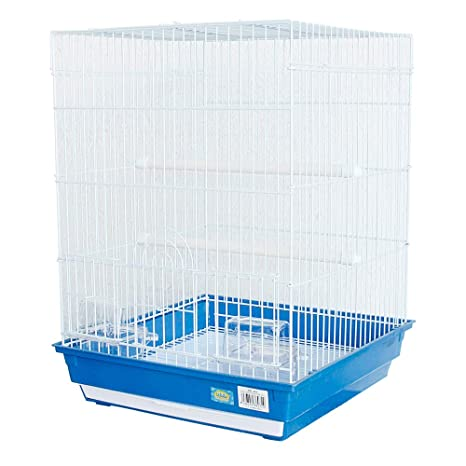 DZL® Jaula para pajaros(40X40X54.50CM) (Azul): Amazon.es ...