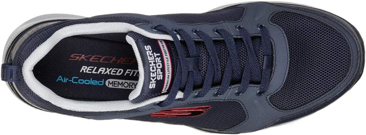 Skechers Mens Equalizer 3.0 Deciment Leather Lace Trainers: Amazon ...