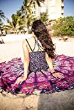INDIAN CREATIONS - 72'' Mandala Round Tapestry Hippie Indian Mandala Roundie Picnic Table Cover Hippy Spread Boho Gypsy Cotton Tablecloth Beach Towel Meditation Round Yoga Mat - (PINK)