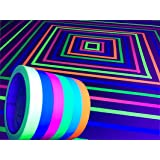 GreyParrot Tape UV Tape Blacklight Reactive, (6 Pack), (6 Colors), 33ft Per Roll, Fluorescent Cloth Tape, Glow in The Dark Ta