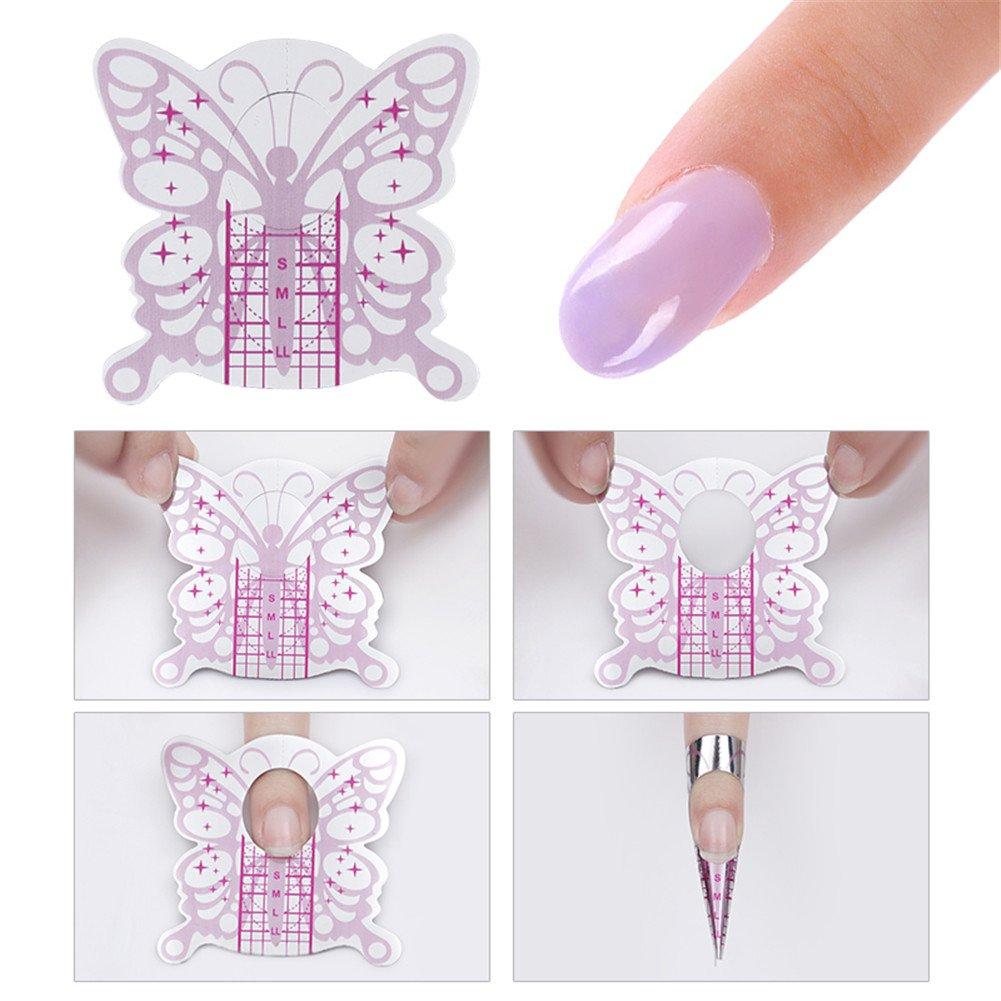 molde de papel de uñas