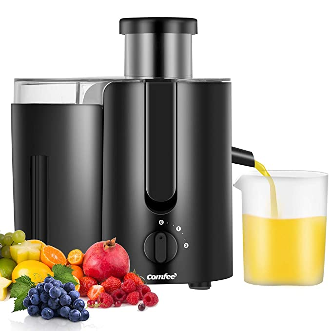 Juicer Extractor,Masticating Juicer,High Speed Juicer, BPA Free, with BPA Free Plastic Juice Cup 400W, 2000RPM by Comfee