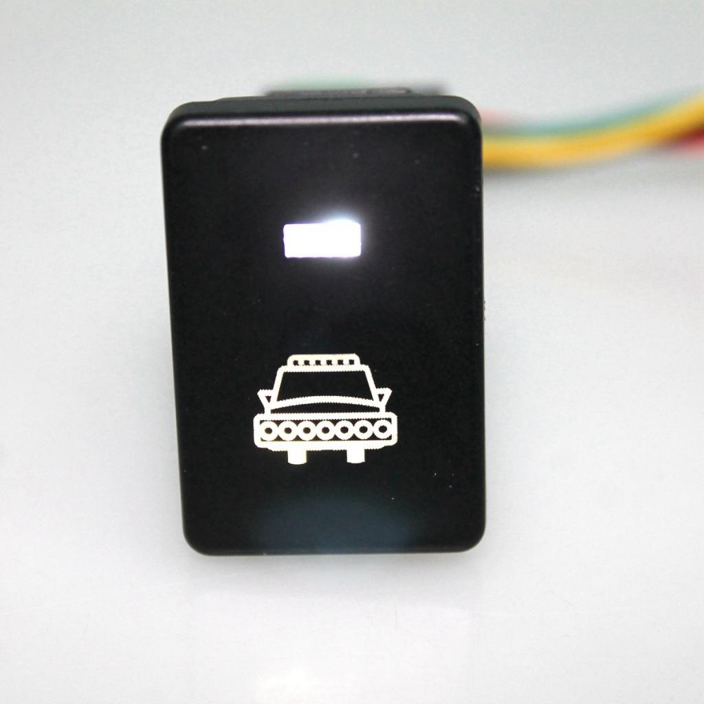 Jili Online Push Switch White LED Lights For Toyota Sequoia Highlander 2008-up Tundra 2008-ON 4Runner 2010-ON Power Symbol