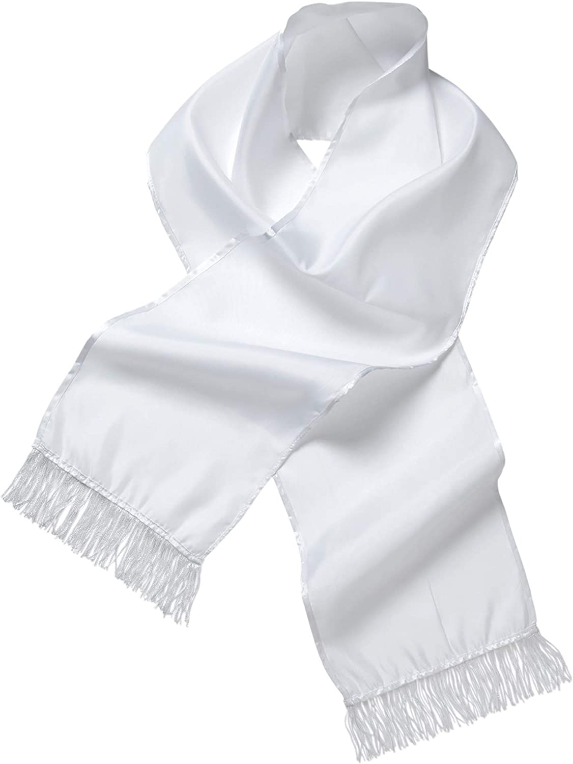 20s Mens Gangster Scarf white Fancy Dress Gangster Costume Accessory
