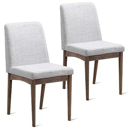 Amazon.com: NanaPluz - 2 sillas de comedor sin brazo ...