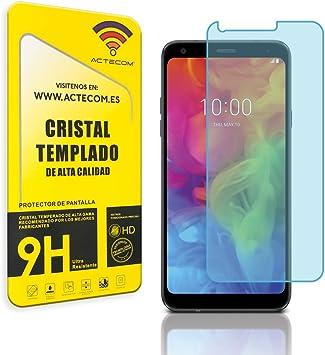 actecom® Protector Pantalla Cristal Templado para LG Q7 con Caja ...