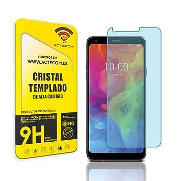 actecom® Protector Pantalla Cristal Templado para LG Q7 con Caja Vidrio Display