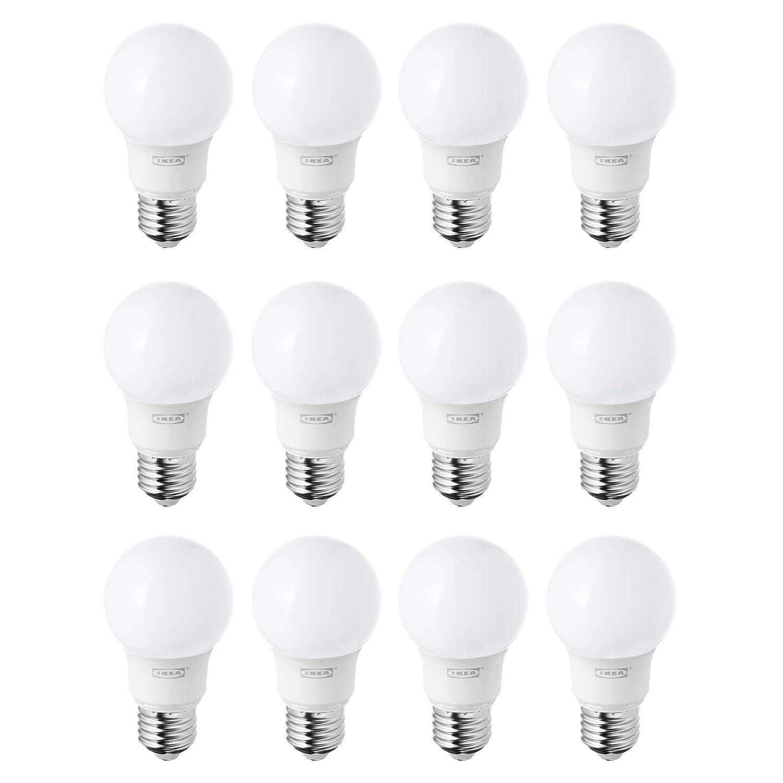IKEA RYET E27/ES Bombillas LED de 400 lm, luz blanca cálida, juego de 12: Amazon.es: Iluminación