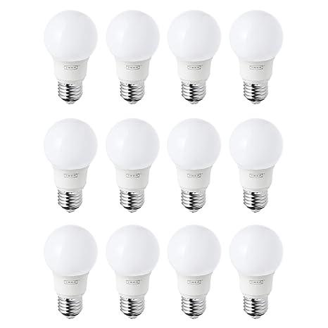 IKEA RYET E27/ES Bombillas LED de 400 lm, luz blanca cálida, juego