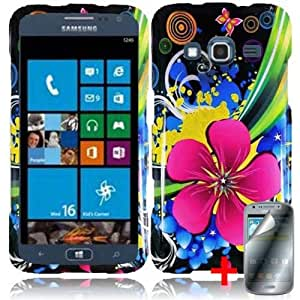 SAMSUNG ATIV S NEO PINK GROOVY FLOWER COVER SNAP ON HARD CASE +FREE SCREEN PROTECTOR from [ACCESSORY ARENA]