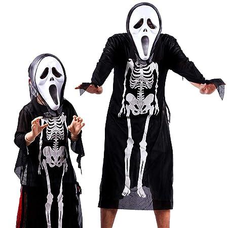 NSSZ Padre-Hijo Esqueleto Esqueleto Ropa Disfraz de Mascarada ...