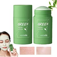 2Pcs Green Mask Stick, Green Tea Purifying Clay Stick Mask, Face Moisturizes Oil Control Deep Cleansing Pore Lmproves…