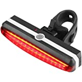 Chartsea USB Rechargeable LED Bike Bicycle Cycling Front Rear Tail Light Headlight Lamp (Red)