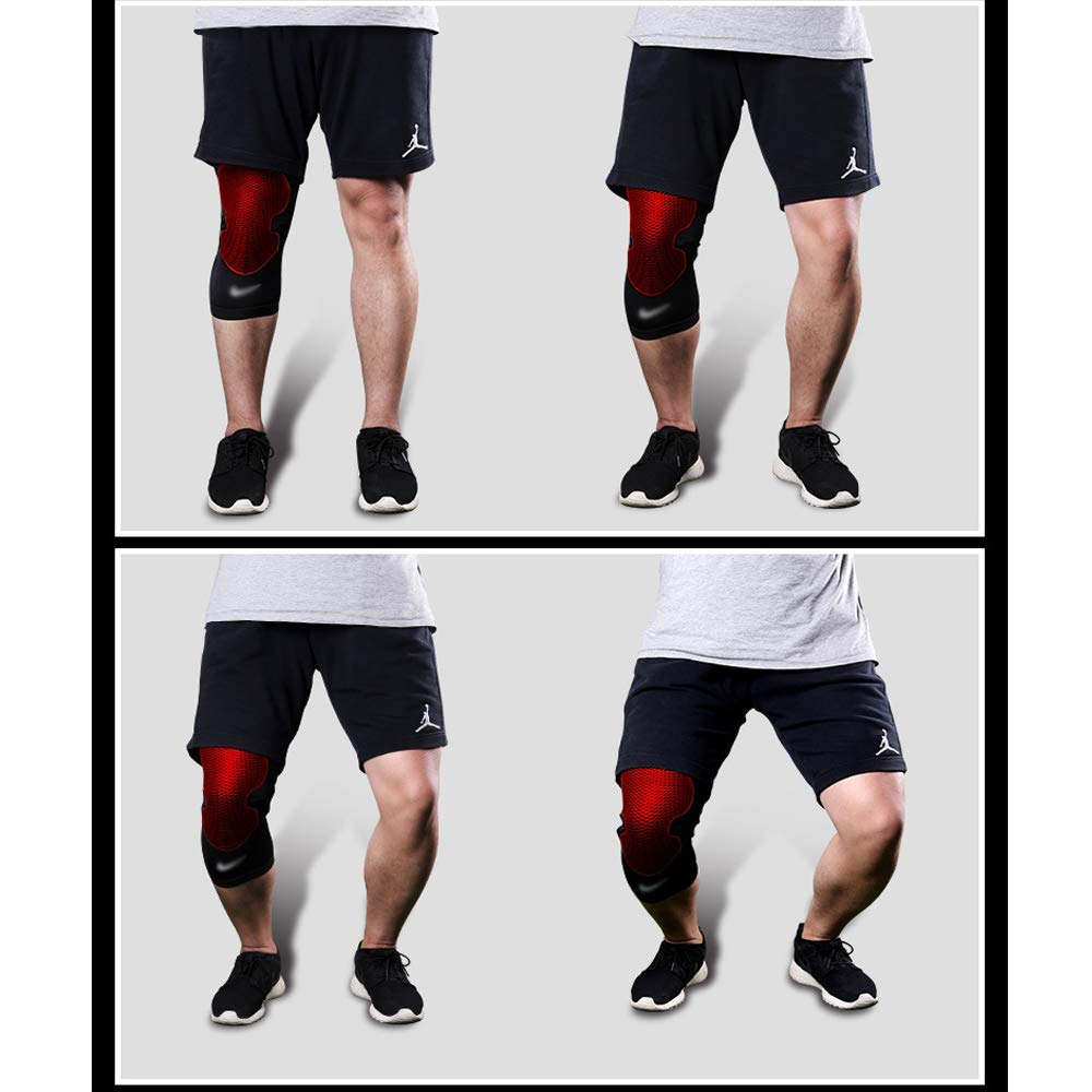 TY BEI Kneepad Sports Knee Pads Meniscus Outdoor Riding Knee Knee Pads - Three (Color : Red, Size : L) by TY BEI (Image #5)