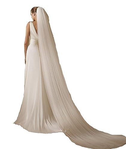 VIPbridal Velo elegante de la boda 3 metros velo nupcial de Tulle con el peine