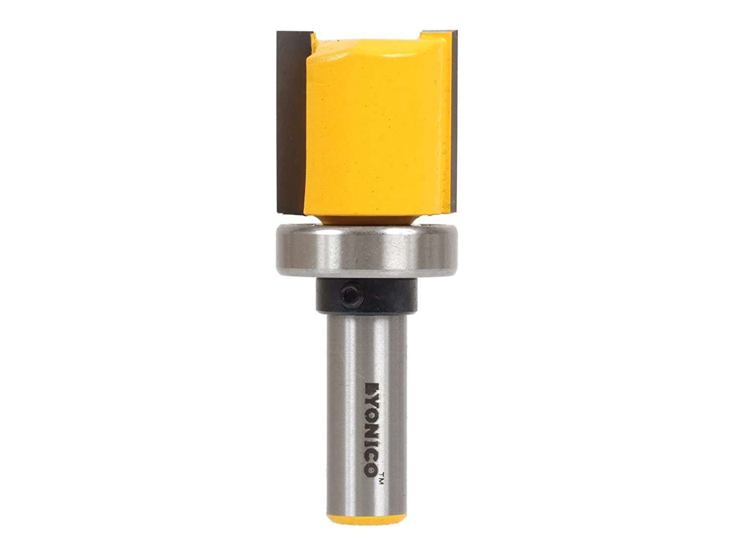 Yonico 14169q 1//2-Inch Hinge Mortise Flush Trim Template Router Bit 1//4-Inch Shank