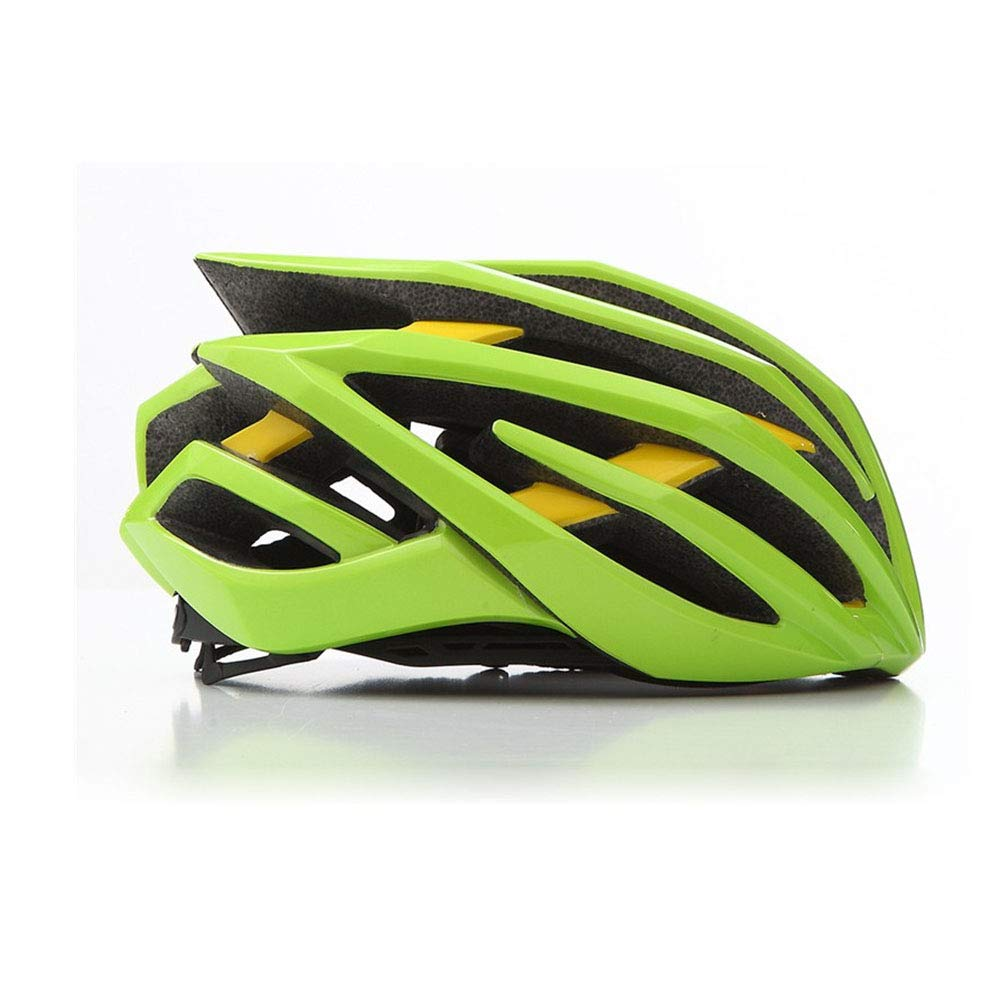 GLEI-TK Erwachsene Bike-Helm Impact Resistant, Light Weight, Adjustable Fit EPS, PC Sports Road Cycling Erholungs-Radfahren Radfahren Bike,Grün