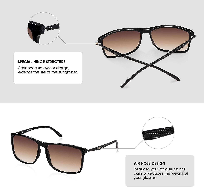 - Lenti in Nylon Polarizzato HD Anti-Allergia 100/% Protezione UV400 Super Leggero Metallo /& TR90 Telaio PORPEE Occhiali da Sole Polarizzati Uomo Donna Moda 2019