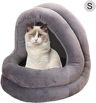 UEETEK Cueva para Perros Gatos Mascotas Cama Gato Invierno Casa Cama Perro Lavable Suave C/álido Verde Tama/ño XS