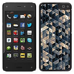 TopCaseStore / la caja del caucho duro de la cubierta de protección de la piel - Pastel Beige 3D Pattern - Amazon Fire Phone