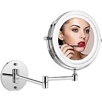 Athomestore - Espejo cosmético con iluminación LED, espejo