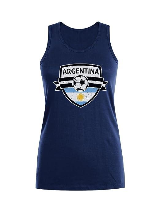 Green Turtle T-Shirts Camiseta sin Mangas para Mujer - Aficionados a la Selección Argentina Mundial 2018: Amazon.es: Ropa y accesorios