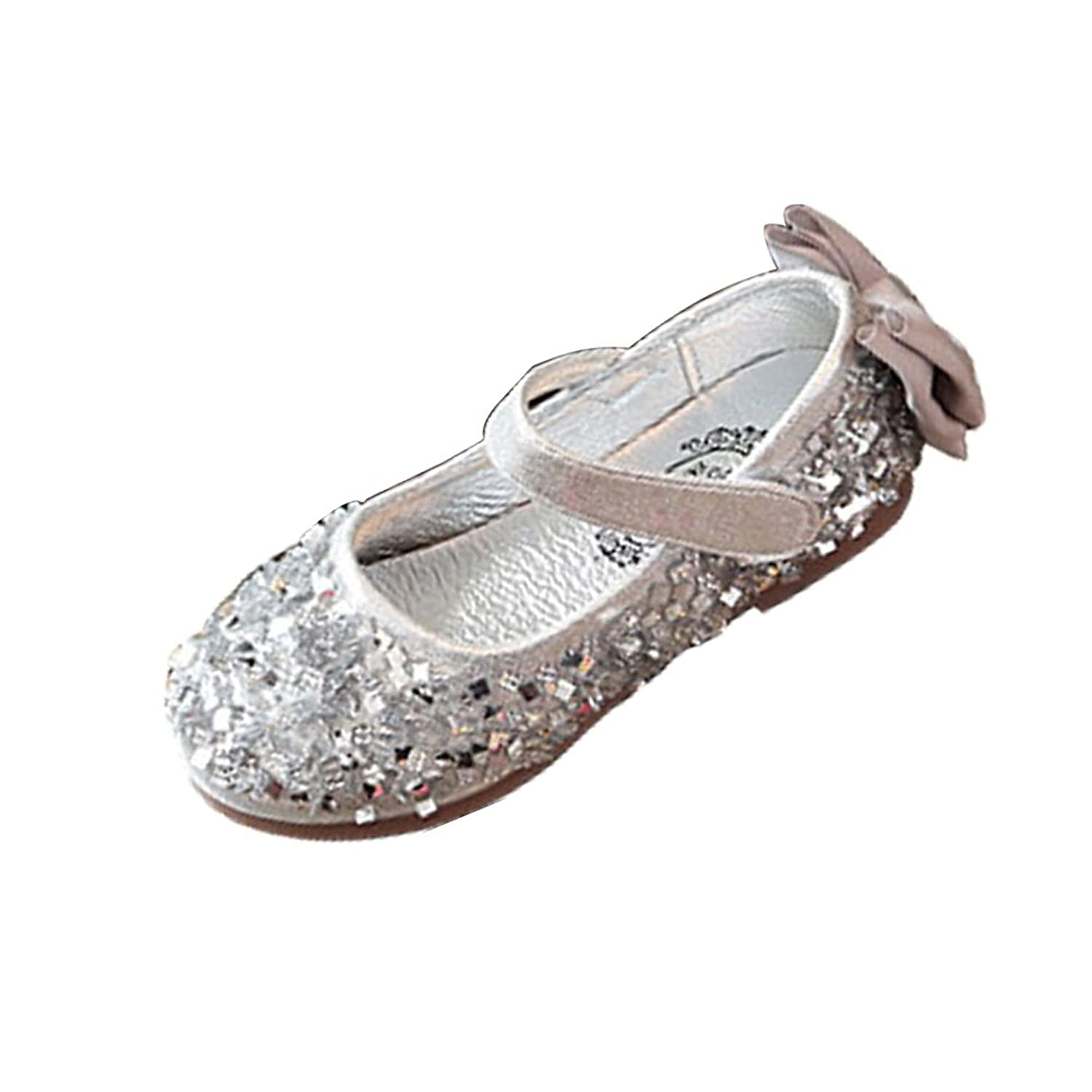 303b098370b Amur Leopard Kids Girls Mary Jane Shoes Dance Sequins Flower Wedding  Princess Shoes(Toddler