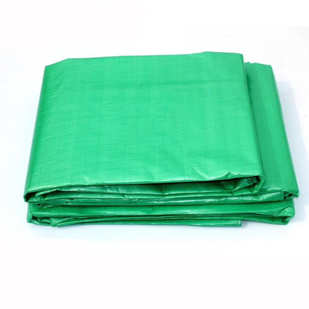 厚手のターポリンターポリンプラスチックファブリックターポリンサンシェードサンスクリーンファブリックカーターポリン (色 : Green, サイズ さいず : 4 * 5m) B07FM5YNJW  Green 4*5m