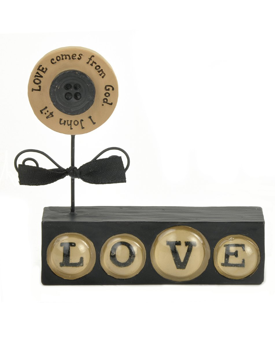 3-1//4 Blossom Bucket 1211-86576 Love Comes from God Black Love Block