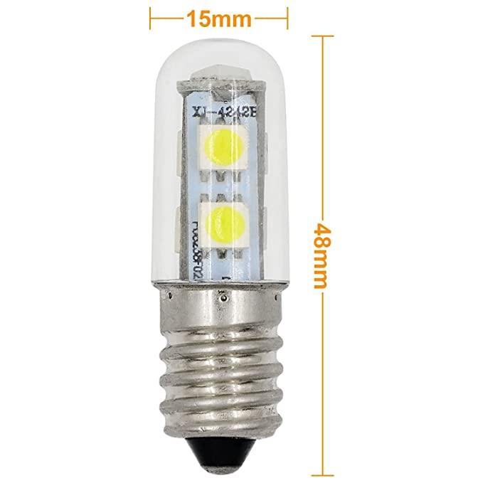 MENGS® Pack de 2 Bombilla lámpara LED 1 Watt E14, 7x5050 SMD, blanca fría 6500K, AC 220-240V: Amazon.es: Iluminación