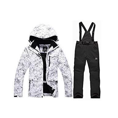 13ddd9d67d GS SNOWING Men s and Women s Ski Jacket High Windproof Waterproof  Technology Snow Jacket and Pants Black